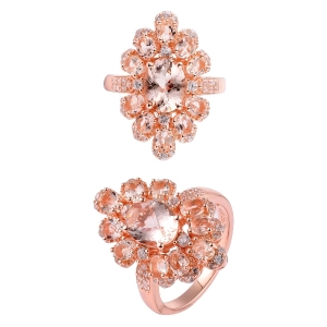 Silver  Morganite Ring