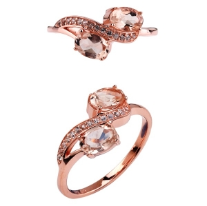 Oval Morganite Stones Ring